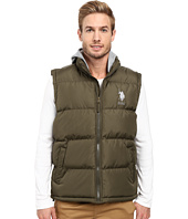 U.S. POLO ASSN. - Basic Puffer Vest with Fleece Hood