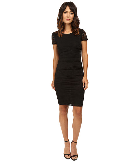 Nicole Miller Brunout Jersey Short Sleeve Dress - Black