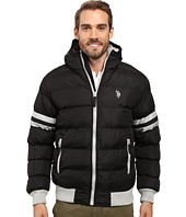 U.S. POLO ASSN. - Hooded Bomber with Sleeve Stripes