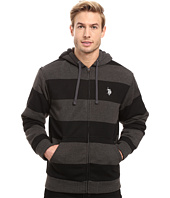 U.S. POLO ASSN. - Rugby Stripe Fleece Hoodie