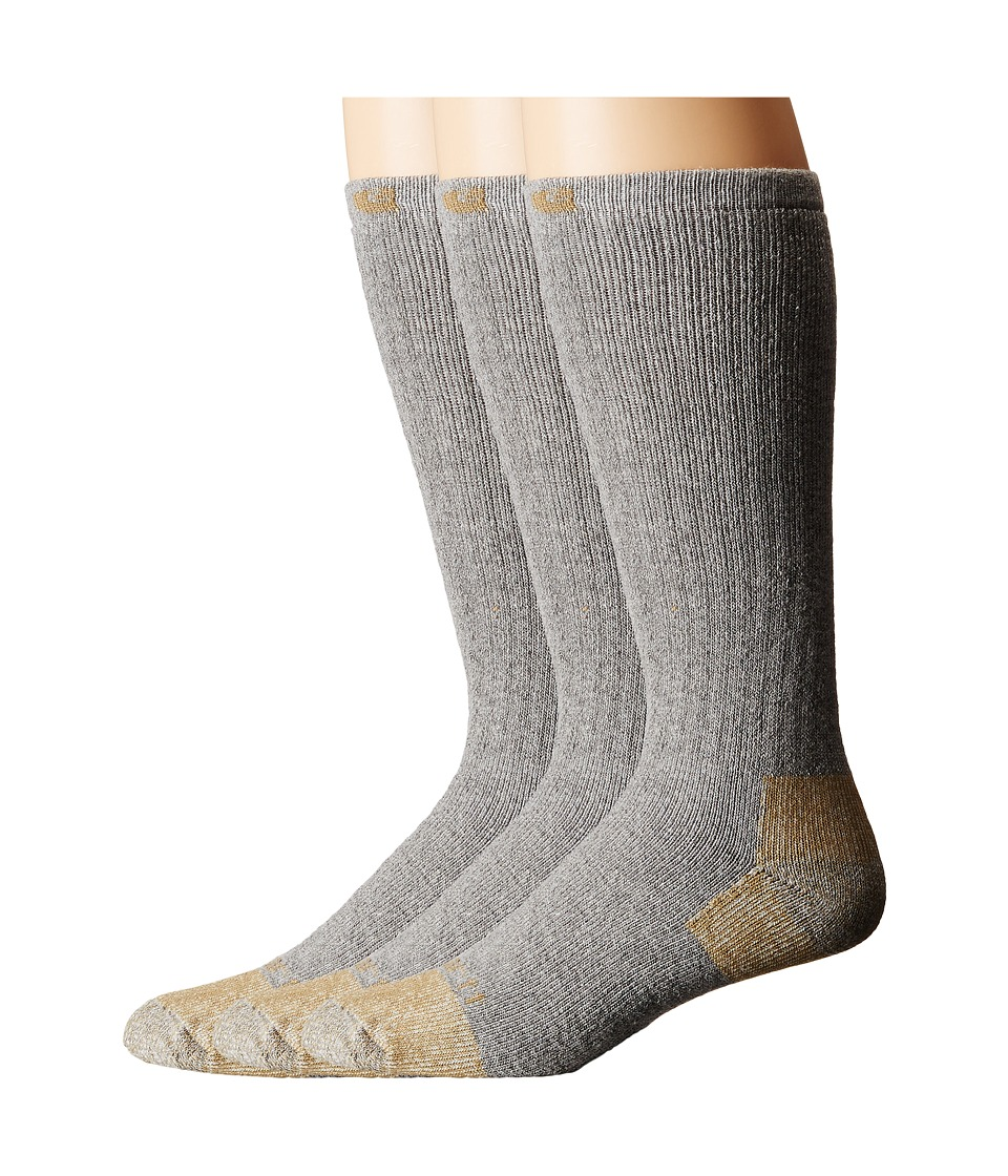 Carhartt - Full Cushion Steel Toe Cotton Work Boot Socks 2-Pack (Gray) Mens Crew Cut Socks Shoes