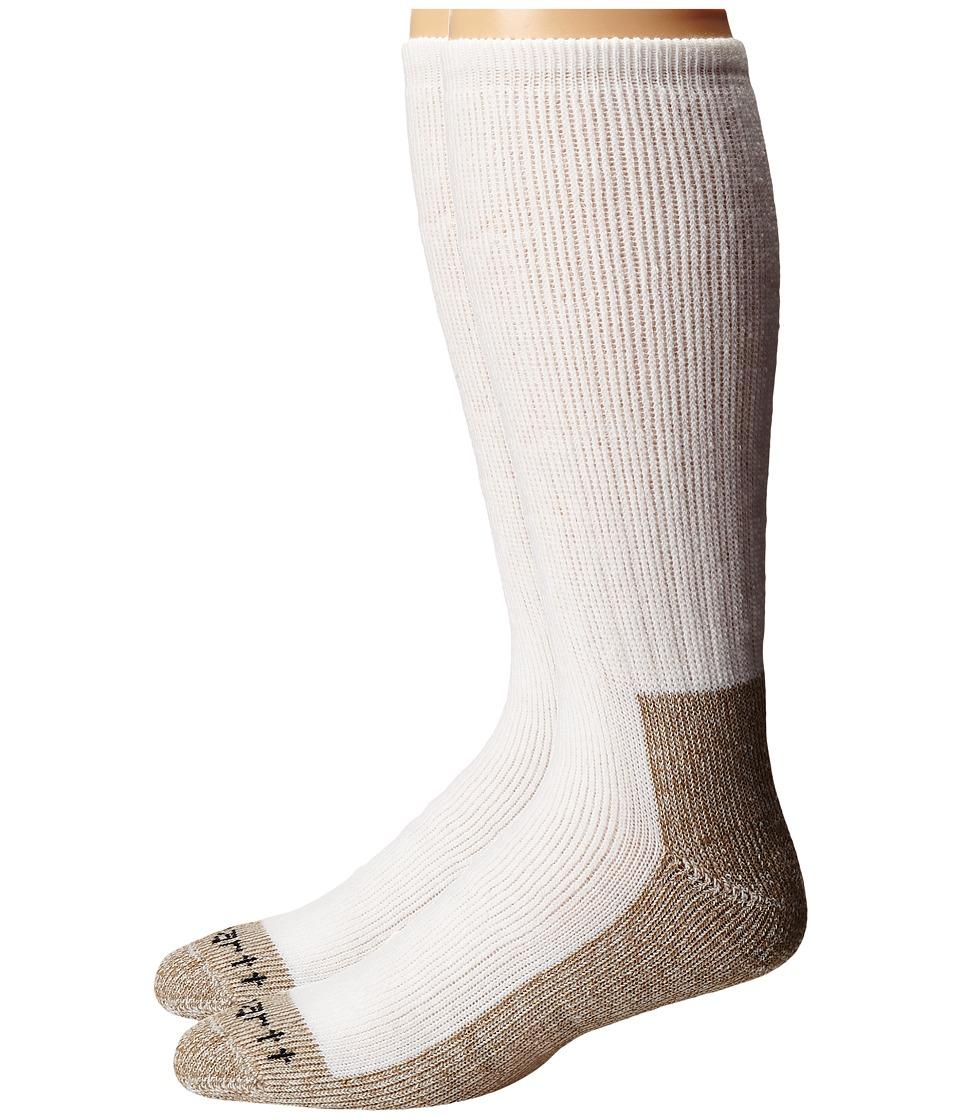 Carhartt - Full Cushion Steel Toe Synthetic Work Boot Socks 2-Pack (White) Mens Crew Cut Socks Shoes