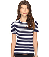 Tommy Bahama - Breton Stripe Short-Sleeve Half-Zip Rash Guard