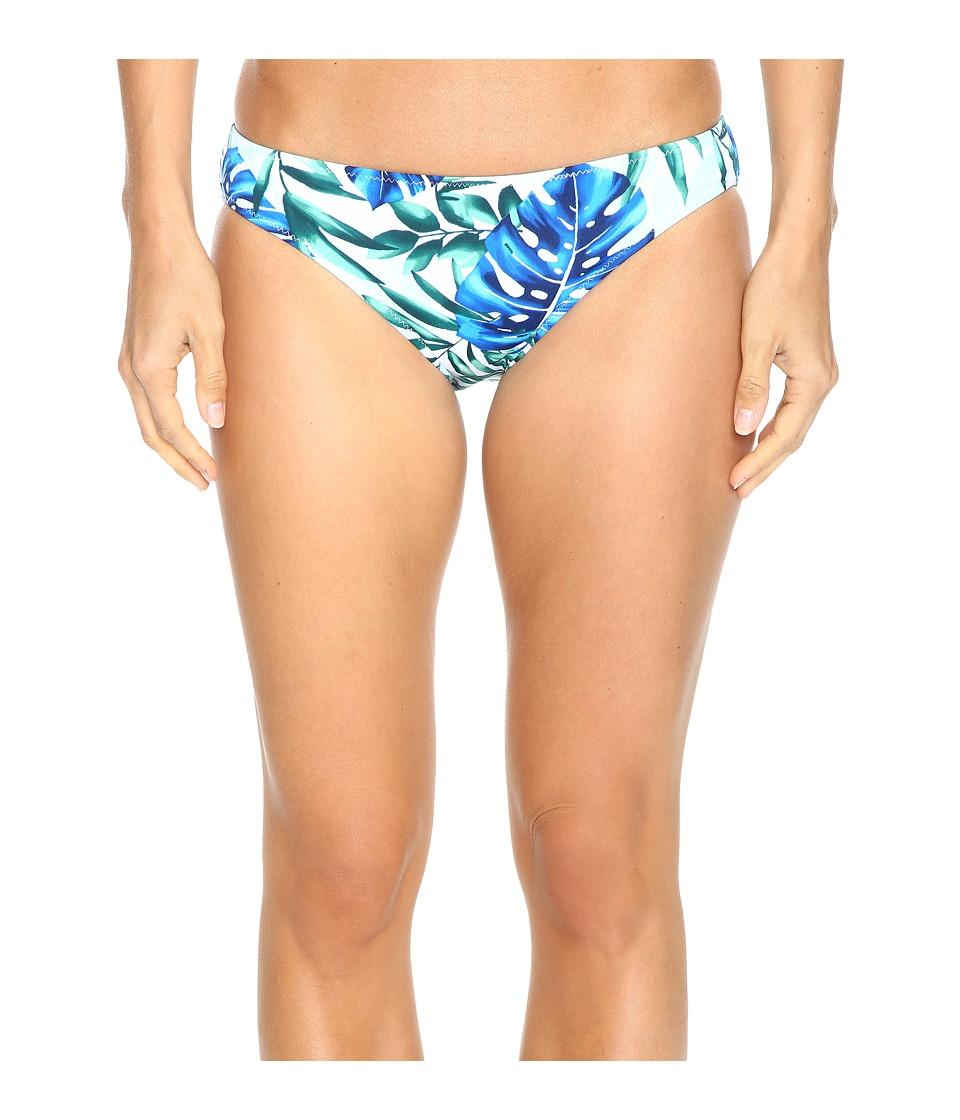 Tommy Bahama Fronds Floating Reversible Hipster Bikini Bottom (White) Women