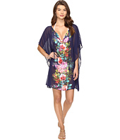 Tommy Bahama - Watercolor Floral Tunic with Tassels