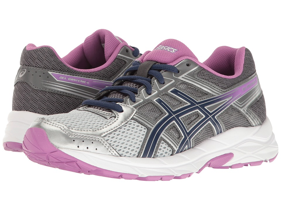 ASICS GEL-Contend 4 (Silver/Campanula/Carbon) Women's Running Shoes