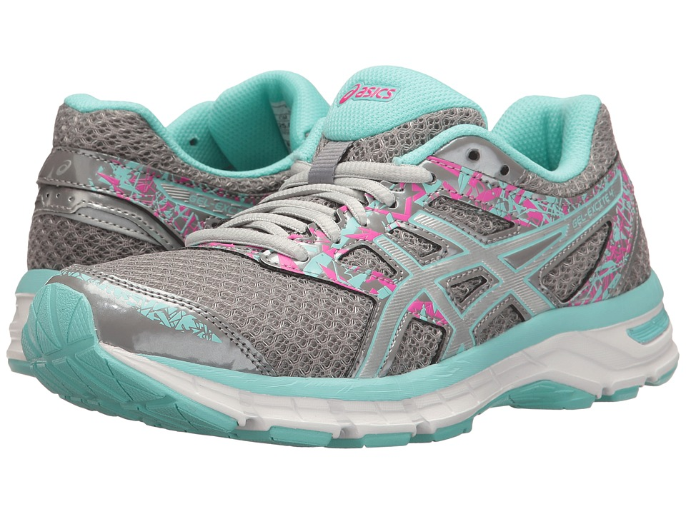 ASICS Gel-Excite 4 (Aluminum/Silver/Aqua Splash) Women
