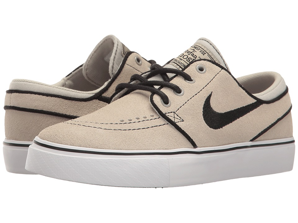 Nike SB Kids Stefan Janoski (Big Kid) (Pale Grey/Black/White) Boys Shoes
