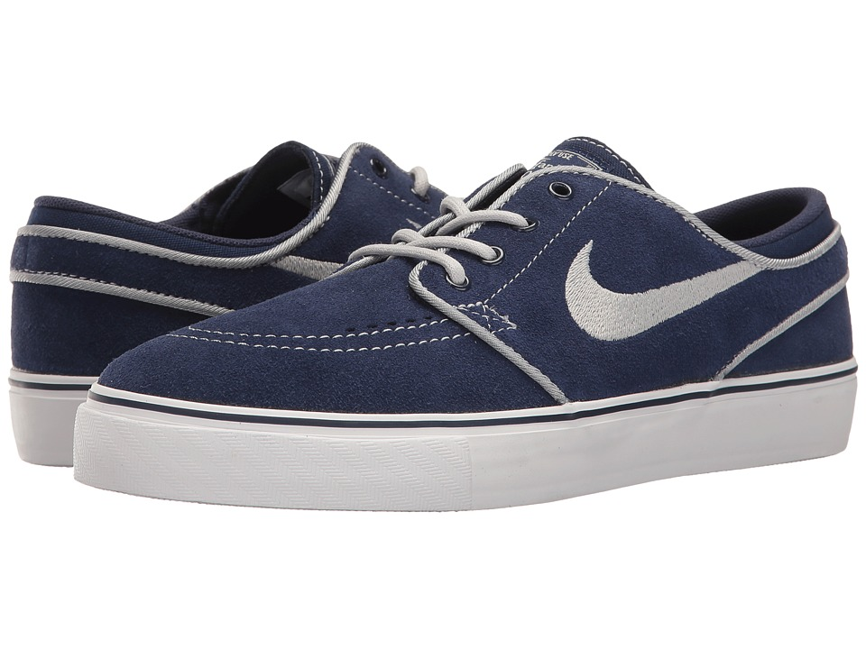 Nike SB Kids Stefan Janoski (Big Kid) (Binary Blue/Wolf Grey/White) Boys Shoes