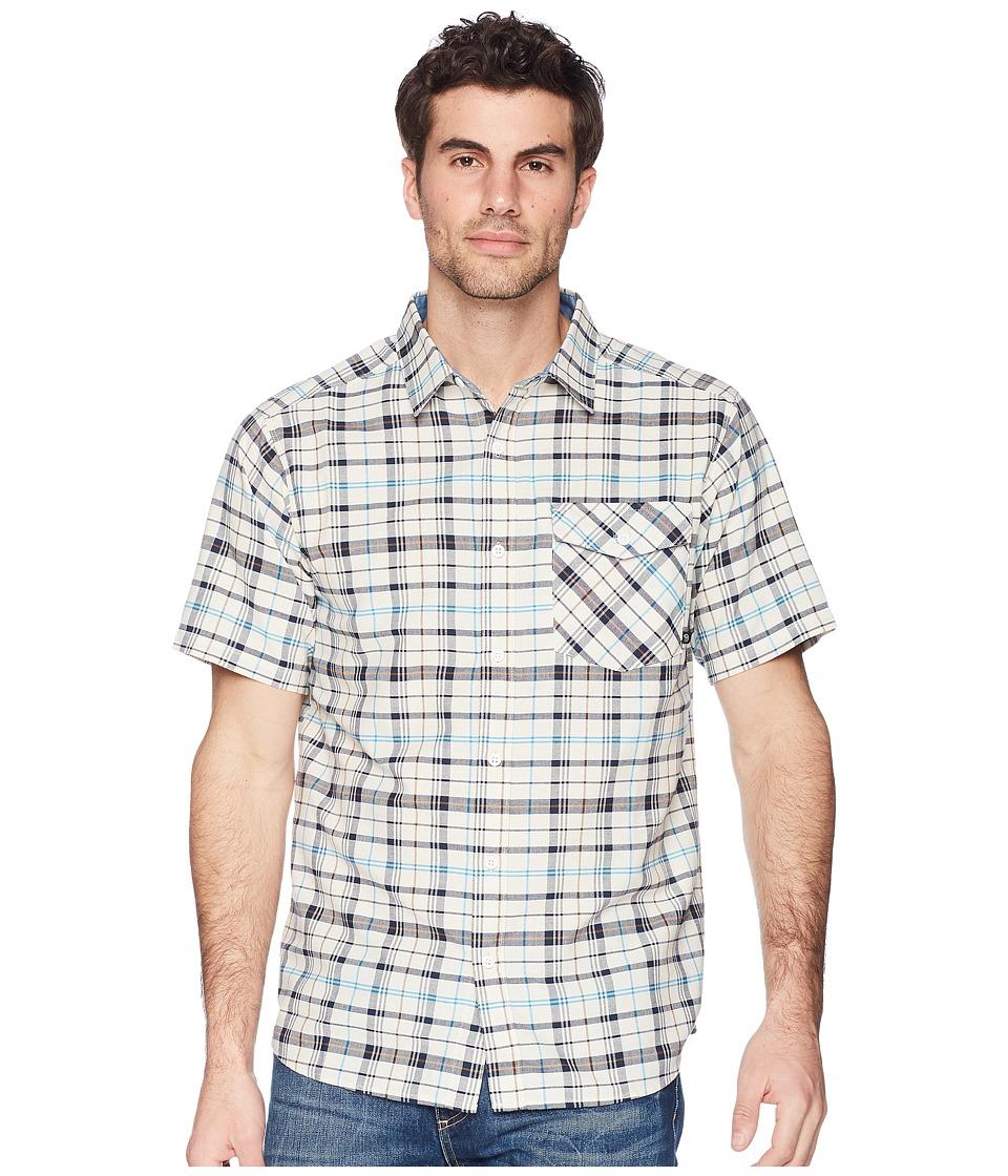 Mountain Hardwear - Drummond Short Sleeve Shirt (Stone) Mens Short Sleeve Button Up