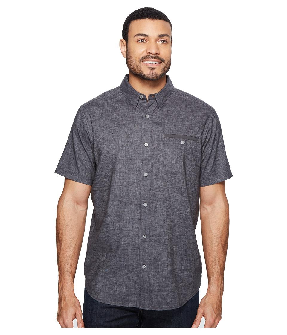 Mountain Hardwear - Denton Short Sleeve Shirt (Shark) Mens Short Sleeve Button Up