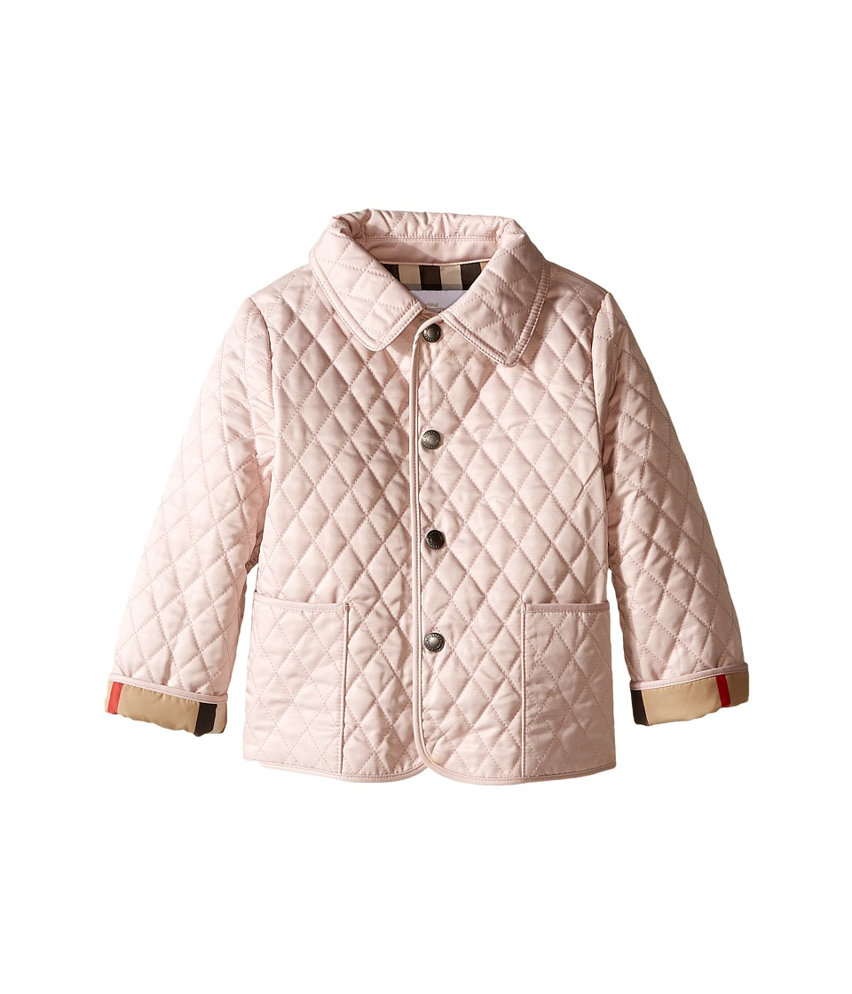 Burberry Kids - Colin Quilted Jacket (Infant/Toddler) (Powder Pink) Girls Coat
