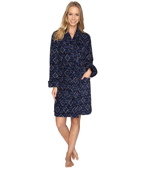 Lucky Brand Shawl Collar Plush Robe - Zanshi Ikat