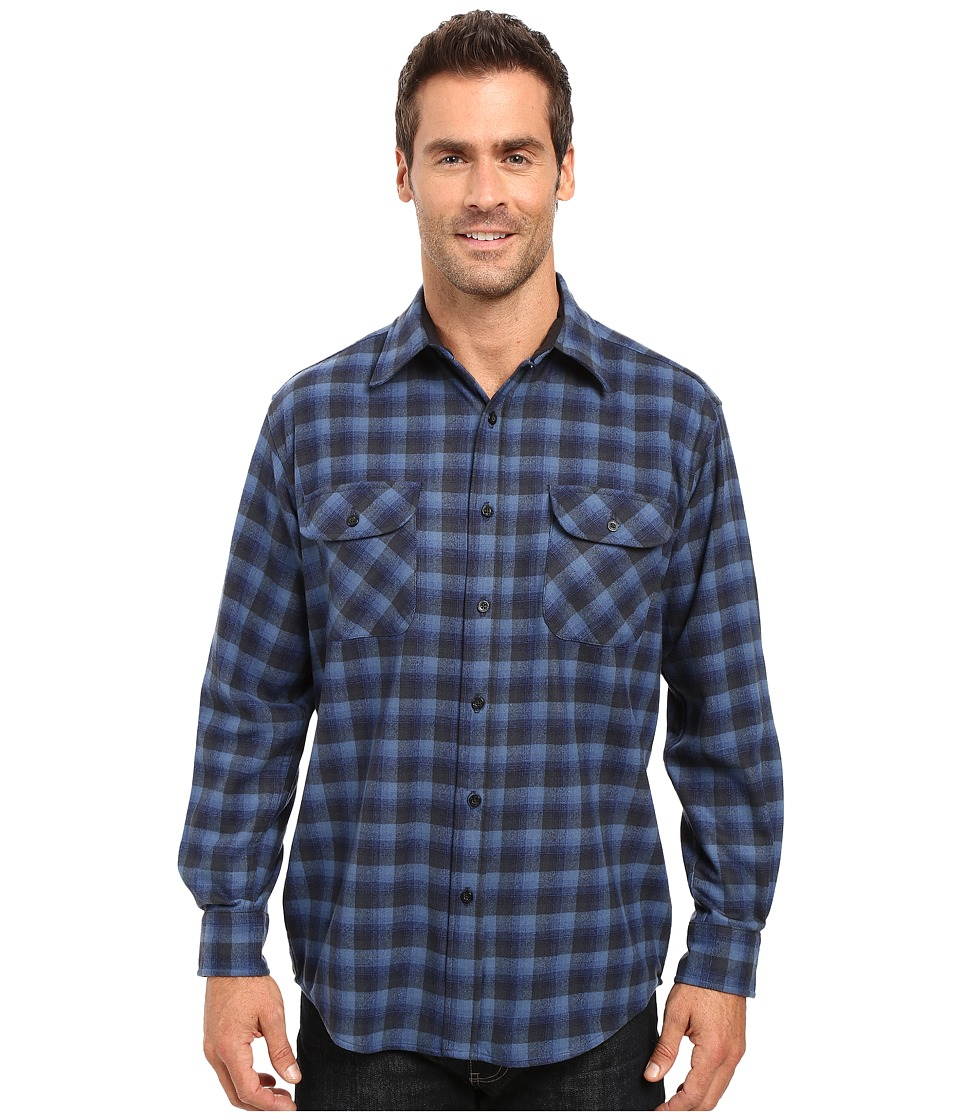 Pendleton Merino Shirt (Blue Plaid) Men