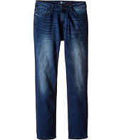 7 For All Mankind Kids - Slimmy Slim Straight Stretch Denim Jeans in Brown Rogue Combo (Big Kids)