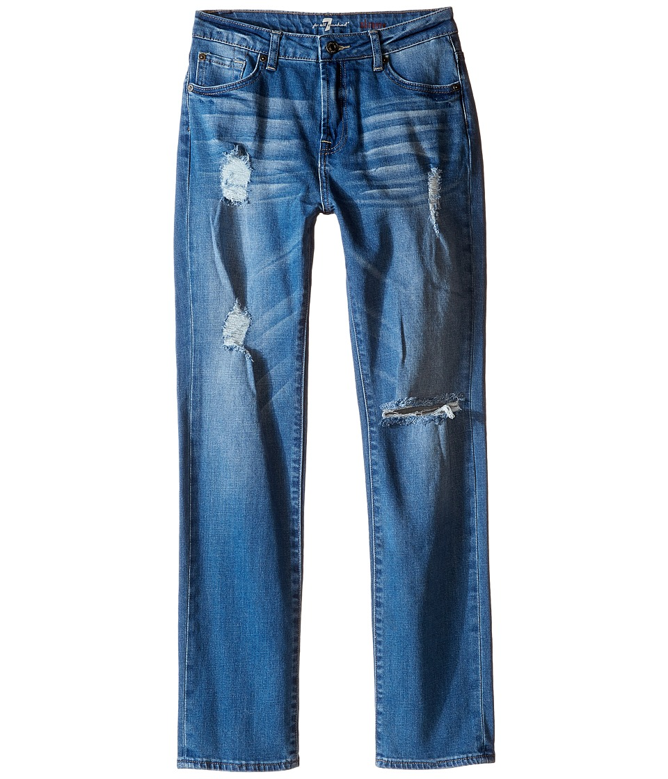 7 For All Mankind Kids - Slimmy Slim Straight Stretch Denim Jeans in Eastern Light