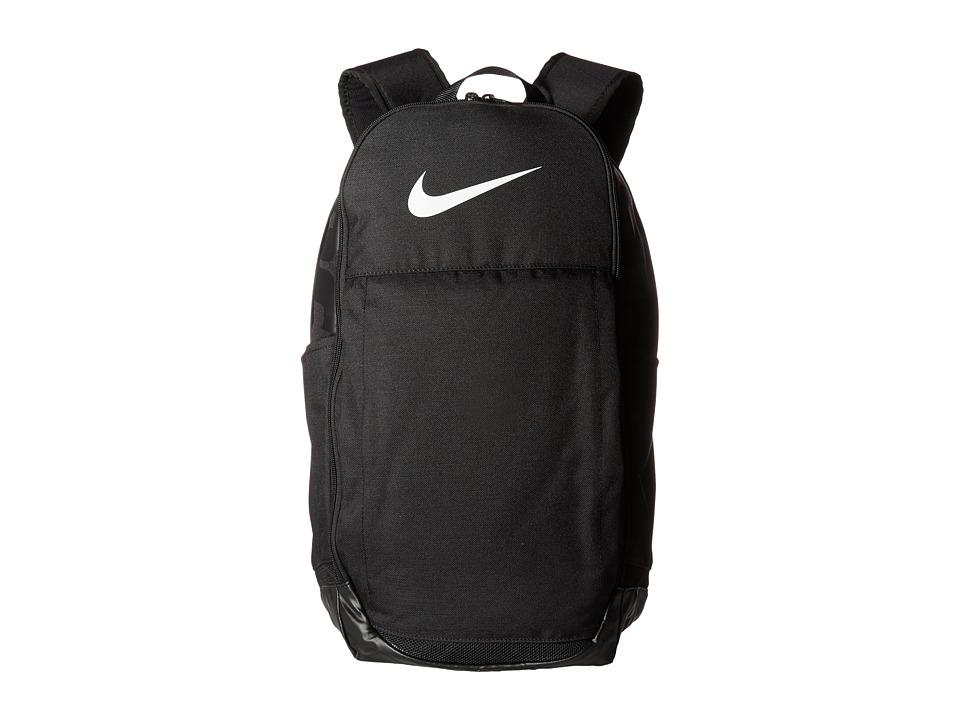 Nike Brasilia Extra Large Backpack (Black/Black/White) Backpack Bags