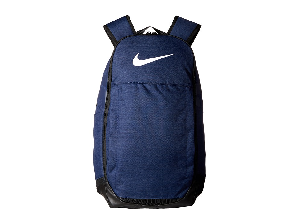 Nike Brasilia Extra Large Backpack (Midnight Navy/Black/White) Backpack Bags