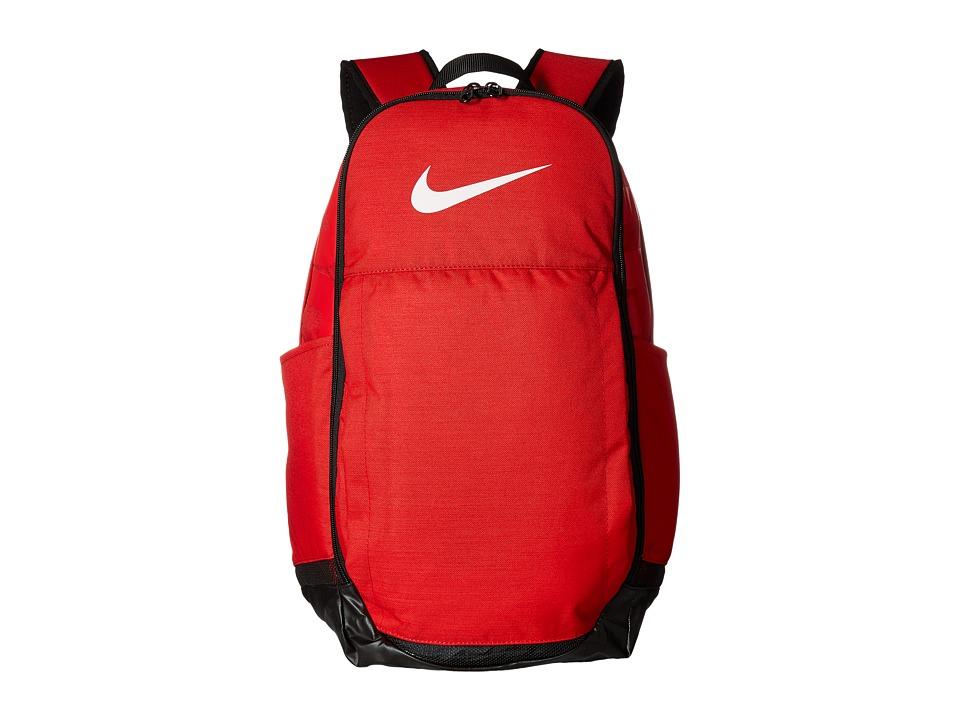 Nike Brasilia Extra Large Backpack (University Red/Black/White) Backpack Bags