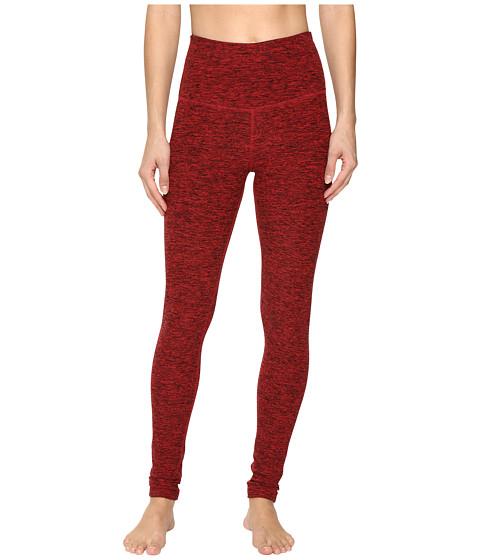 Beyond Yoga High Waist Long Legging - Black/Chili Red Spacedye