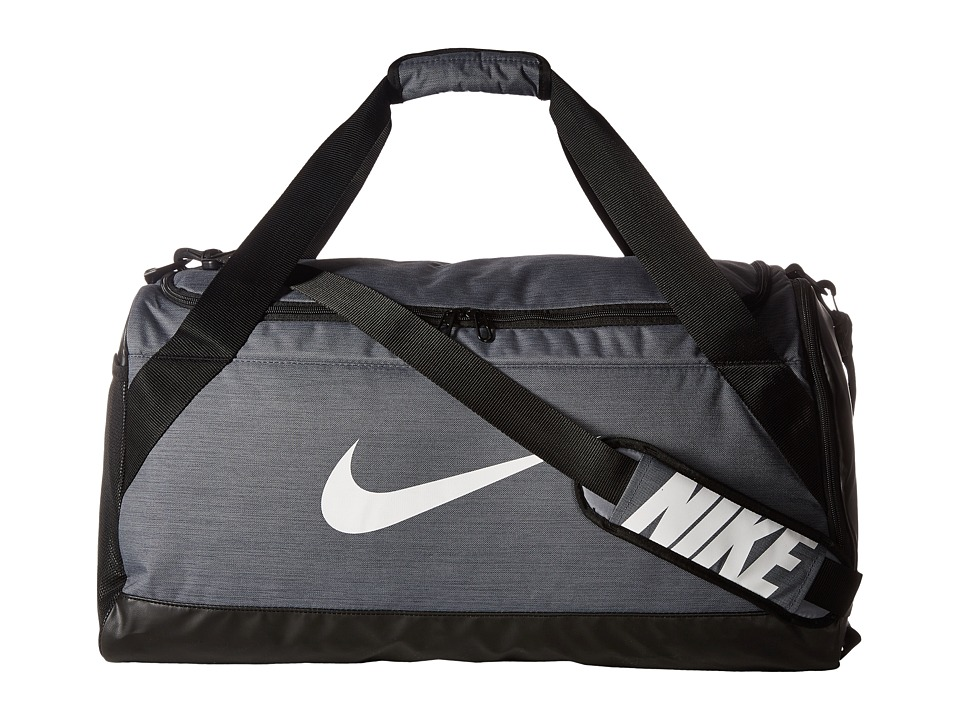 Nike Brasilia Medium Duffel Bag Flint Grey Black White Bags