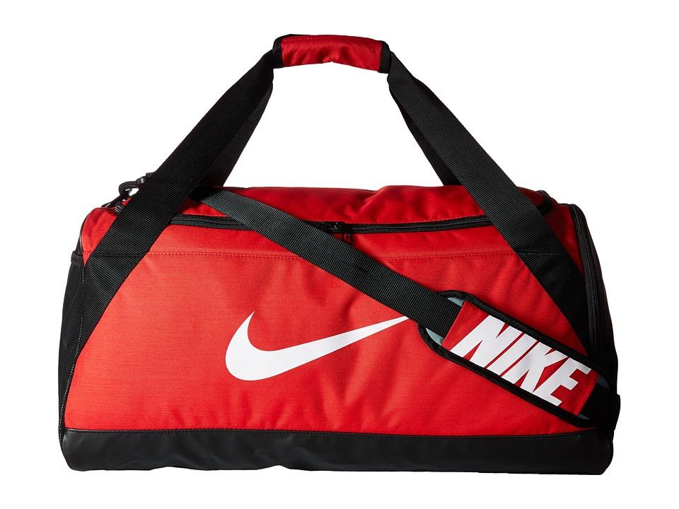 Nike Brasilia Medium Duffel Bag (University Red/Black/Whi...