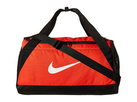 Nike Brasilia Small Duffel Bag - Max Orange/Black/White