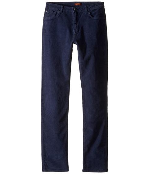 7 For All Mankind Kids Slimmy Slim Straight Stretch Corduroy Jeans in Navy (Big Kids)