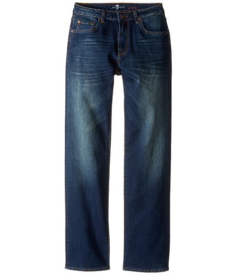 7 For All Mankind Kids Standard Straight Leg Denim Jeans in Aged Authentic (Big Kids)