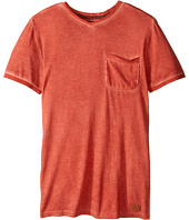 7 For All Mankind Kids - Short Sleeve V-Neck Burnout Jersey Pocket T-Shirt (Big Kids)