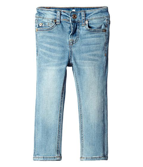 7 For All Mankind Kids The Skinny Stretch Denim Light Vintage Jeans in Pink Lavender (Big Kids)
