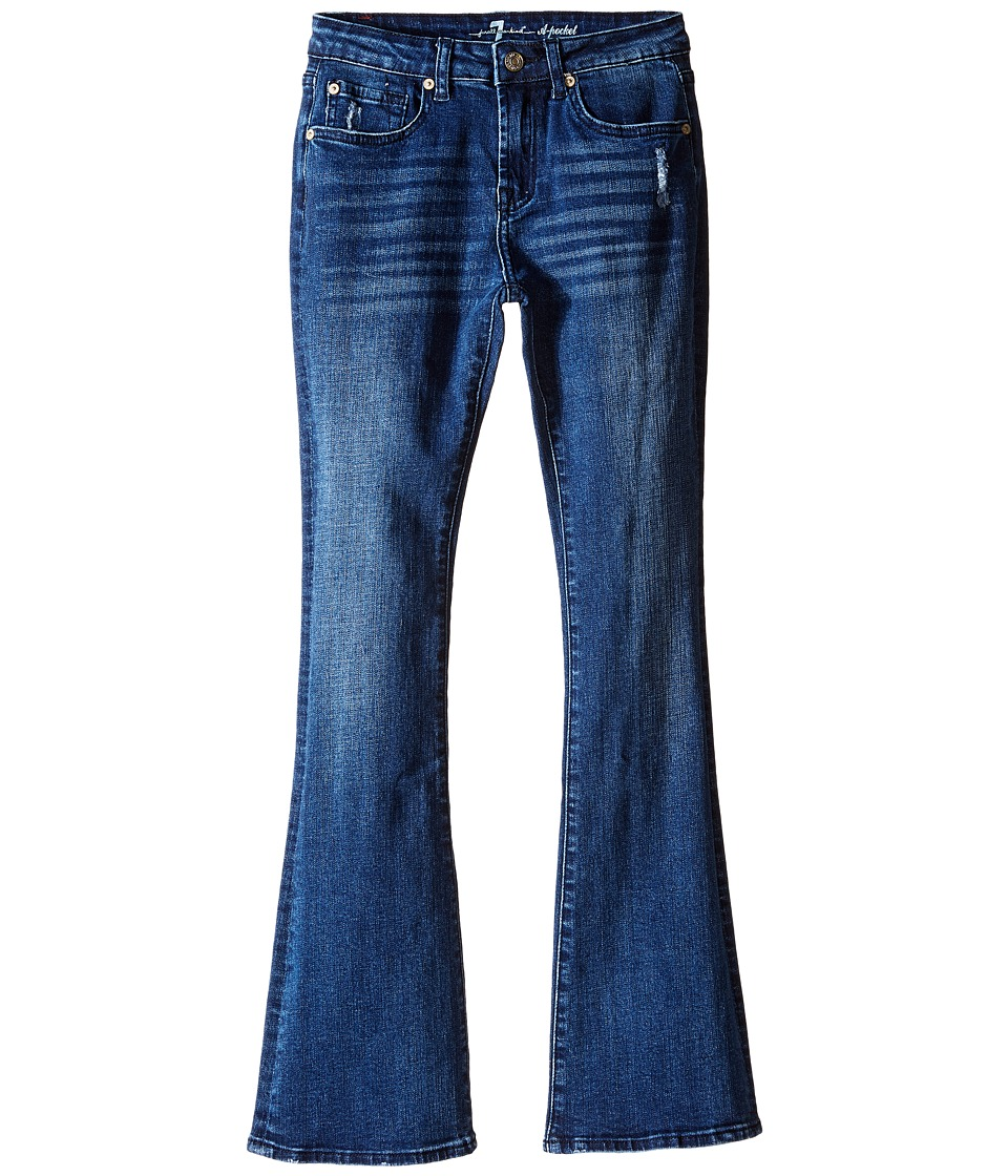 Image of 7 For All Mankind Kids - A-Pocket Flare Stretch Denim Jeans in Rigid Lake Blue (Big Kids) (Rigid Lake Blue) Girl's Jeans