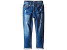 Josefina Skinny Boyfriend Stretch Twill Jeans in Royal Broken Twill (Little Kids)