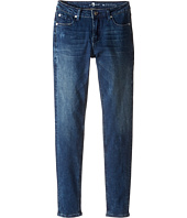 7 For All Mankind Kids - The Skinny Stretch Denim Jeans in Crushed Blue Black (Big Kids)