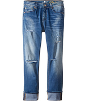 7 For All Mankind Kids - The Josefina Boyfriend Five-Pocket Skinny Stretch Denim Jeans in Bright Bluebell (Big Kids)