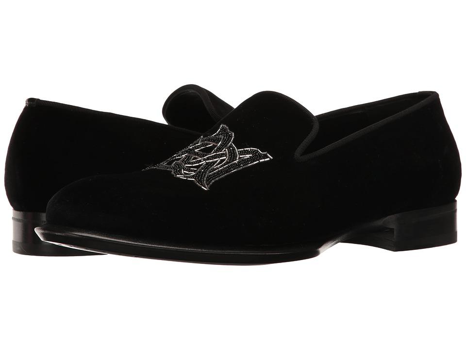 Alexander McQueen Velvet AMQ Slipper (Black) Men