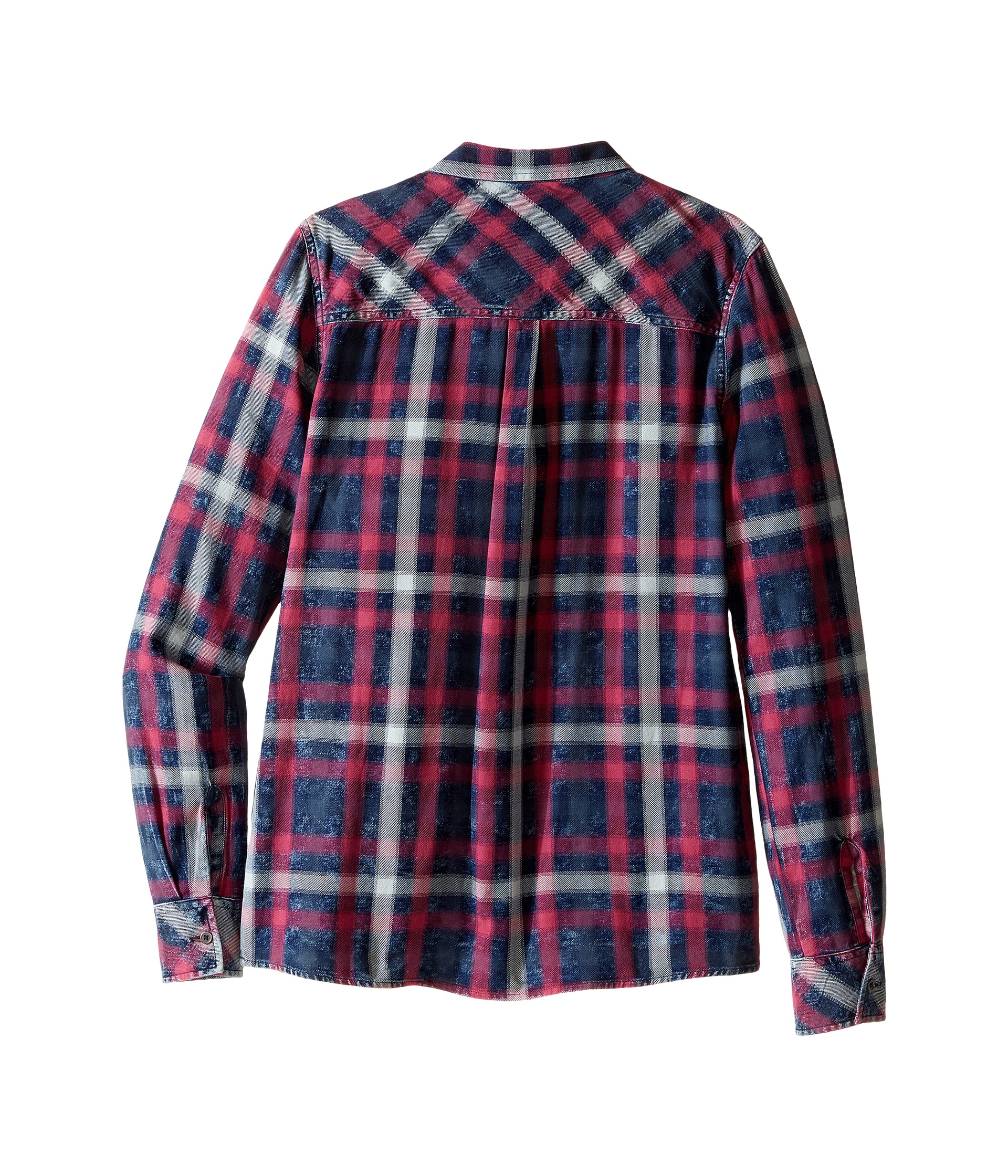 7 for all mankind kids long sleeve boyfriend button up for Button up flannel shirts