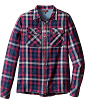 7 For All Mankind Kids - Long Sleeve Boyfriend Button Up Plaid Flannel Shirt (Big Kids)