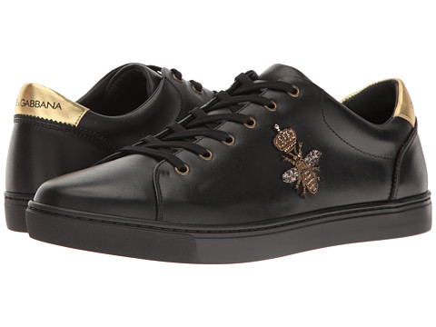 Dolce & Gabbana London Bee Applique Low Top - Black