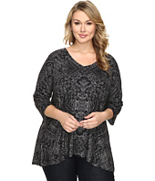 Nally & Millie - Plus Size Ikat Print Tunic