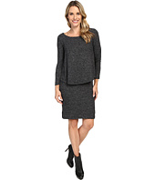 Nally & Millie - Long Sleeve Brushed Sweater Overlay Dress