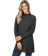 Nally & Millie - Long Sleeve Brushed Sweater Funnel Neck Tunic