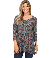 Nally & Millie - Multicolor Feather Print Tunic