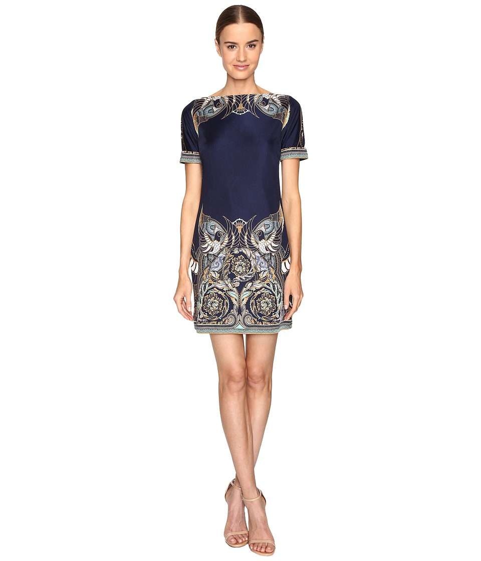 Versace Collection Jersey Dress (Blue/Stampa) Women