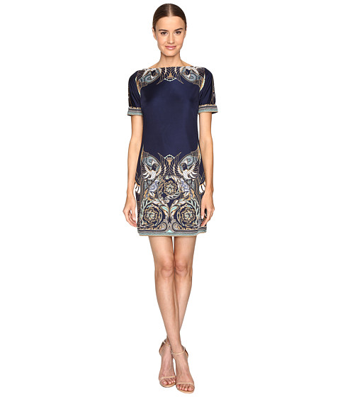 Versace Collection Jersey Dress - Blue/Stampa