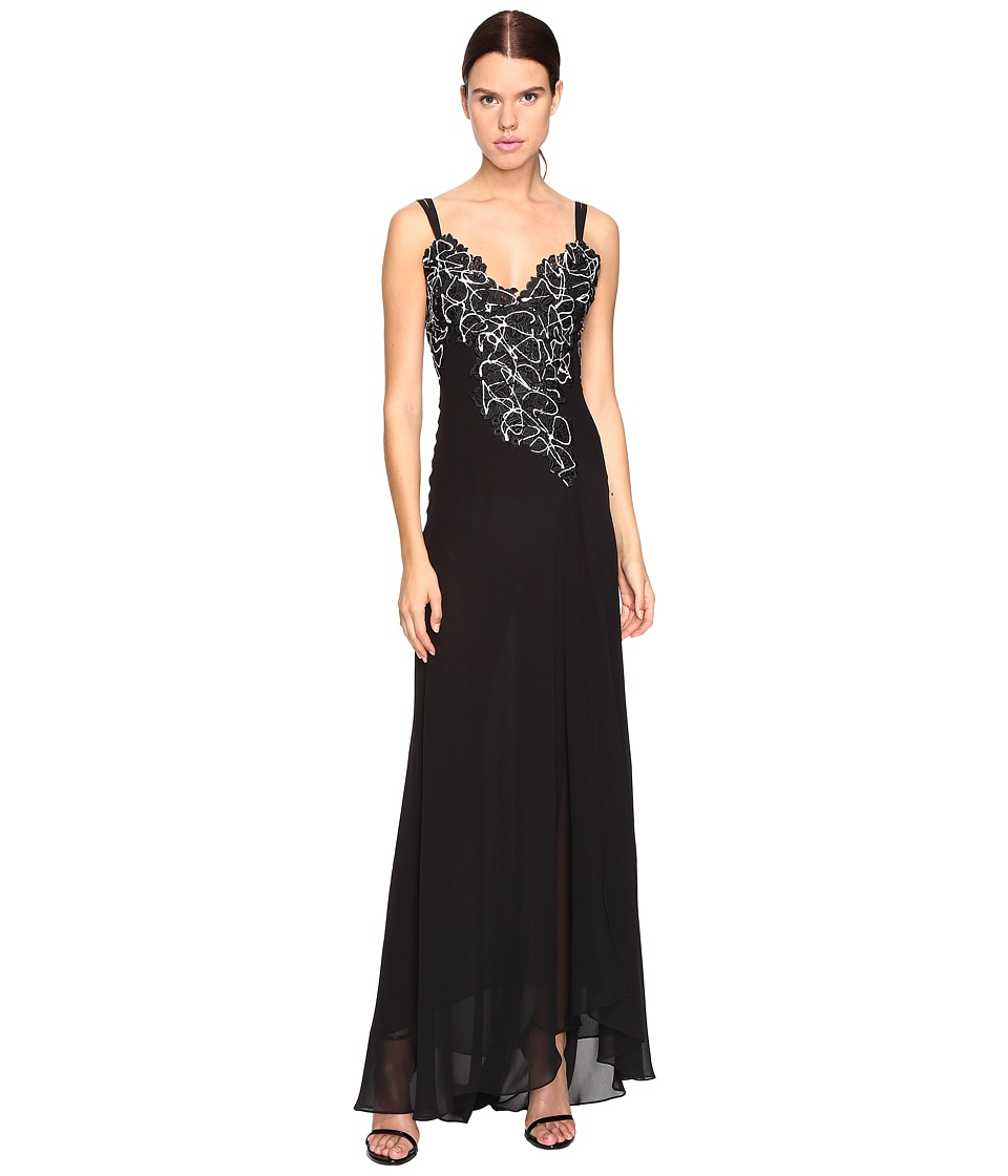 Versace Collection Long Evening Gown (Nero) Women