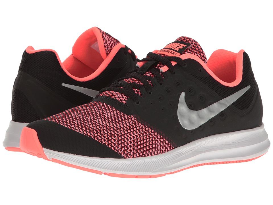 Nike Kids Downshifter 7 (Big Kid) (Black/Metallic Silver/Lava Glow/White) Girls Shoes