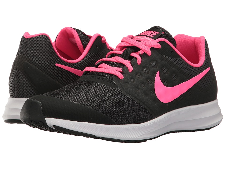 Nike Kids Downshifter 7 (Big Kid) (Black/Racer Pink/Anthracite/White) Girls Shoes
