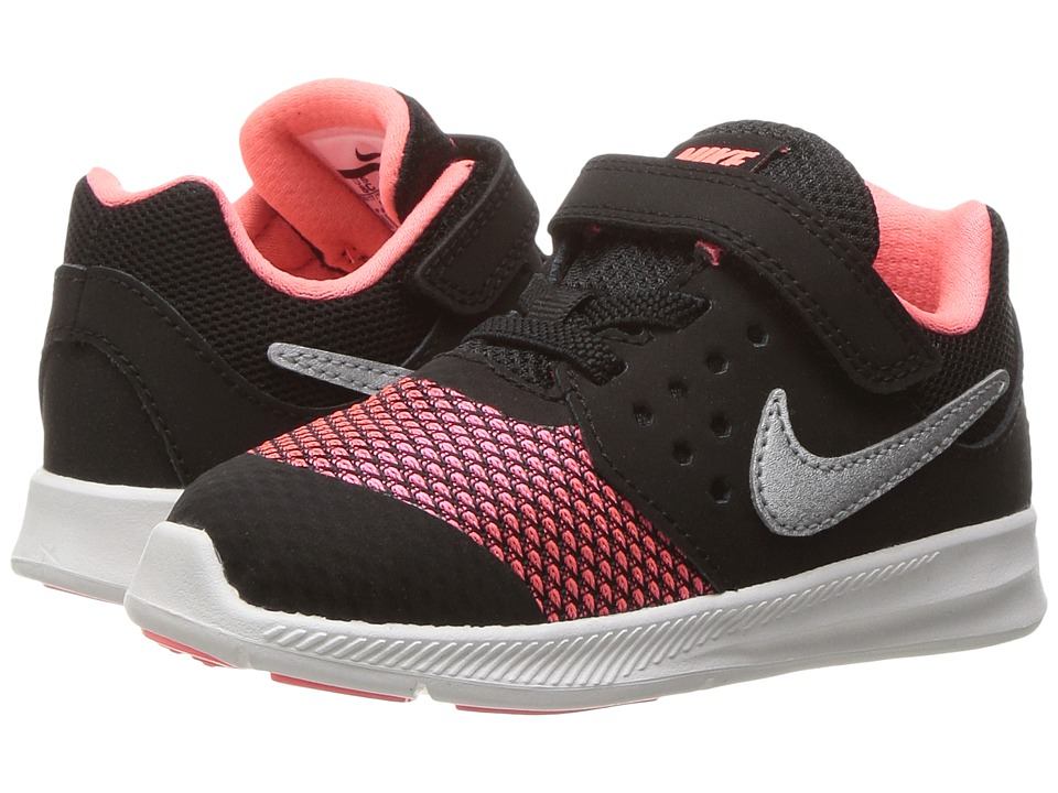 Nike Kids Downshifter 7 (Infant/Toddler) (Black/Racer Pink/Lava Glow/White) Girls Shoes