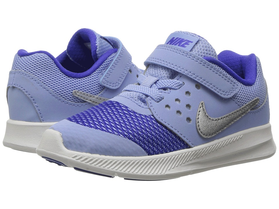 Nike Kids Downshifter 7 (Infant/Toddler) (Aluminum/Metallic Silver/Paramount Blue) Girls Shoes